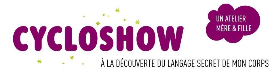 """Ateliers """" CycloShow """" pour les jeunes filles de 10 à 14 ans et leurs mamans au Bouscat (Gironde)"""