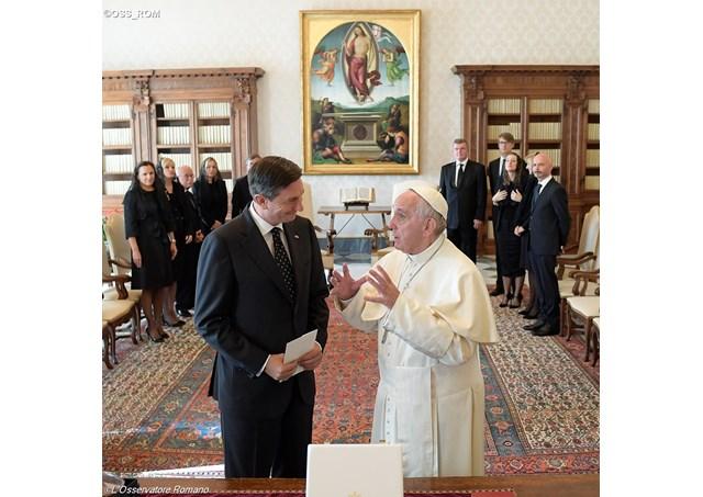 Le pape a reçu le président Slovène