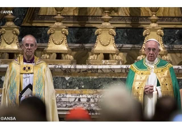 Rome – Oeucuménisme- Déclaration commune du pape et du primat d'Angleterre