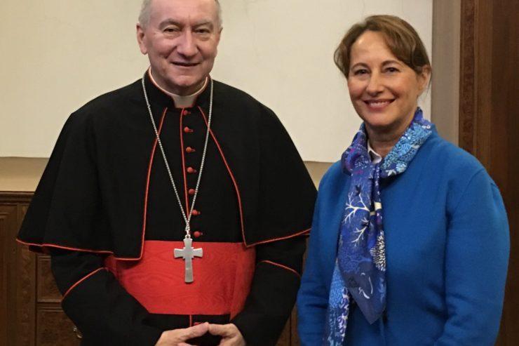 Ségolène Royal remercie le pape pour son rôle majeur dans la réussite de l'Accord de Paris