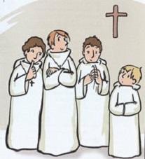 Diocèse de Laval: jubilé des servants d'autel à Pontmain