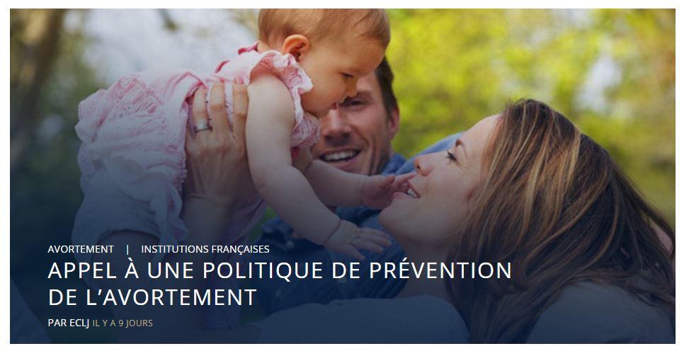 Signez l'appel à une politique de prévention de l'avortement
