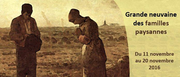 11-20 novembre: neuvaine de prière pour les paysans