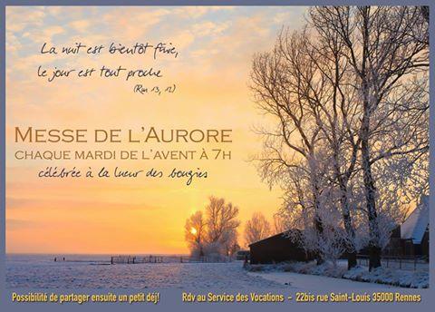 Rennes – Pendant l'Avent, messes de l'Aurore tous les mardis