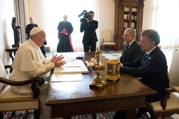 La paix remise en cause en Colombie – L'intervention du pape