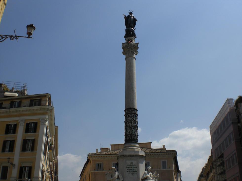 Le pape place d'Espagne pour le traditionnel acte de vénération