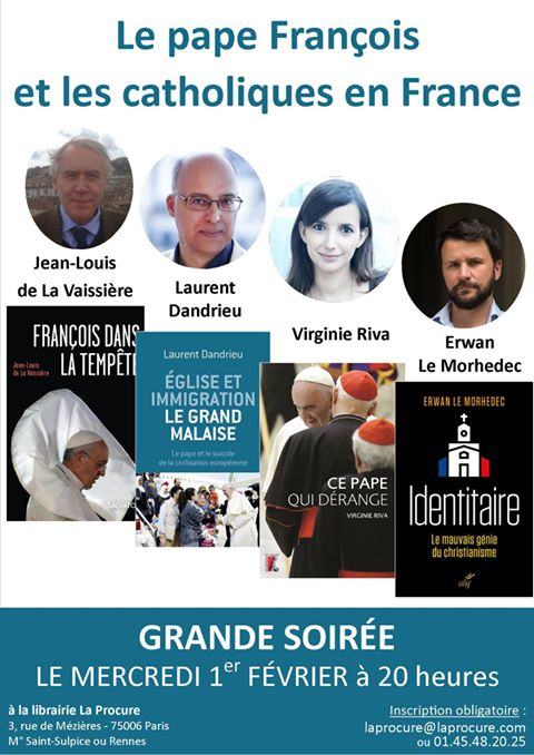 Débat à la librairie La Procure sur le pape François