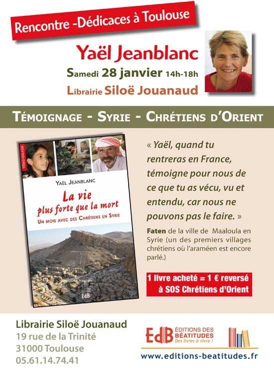 """Conférence à Toulouse sur """"La vie plus forte que la mort"""""""