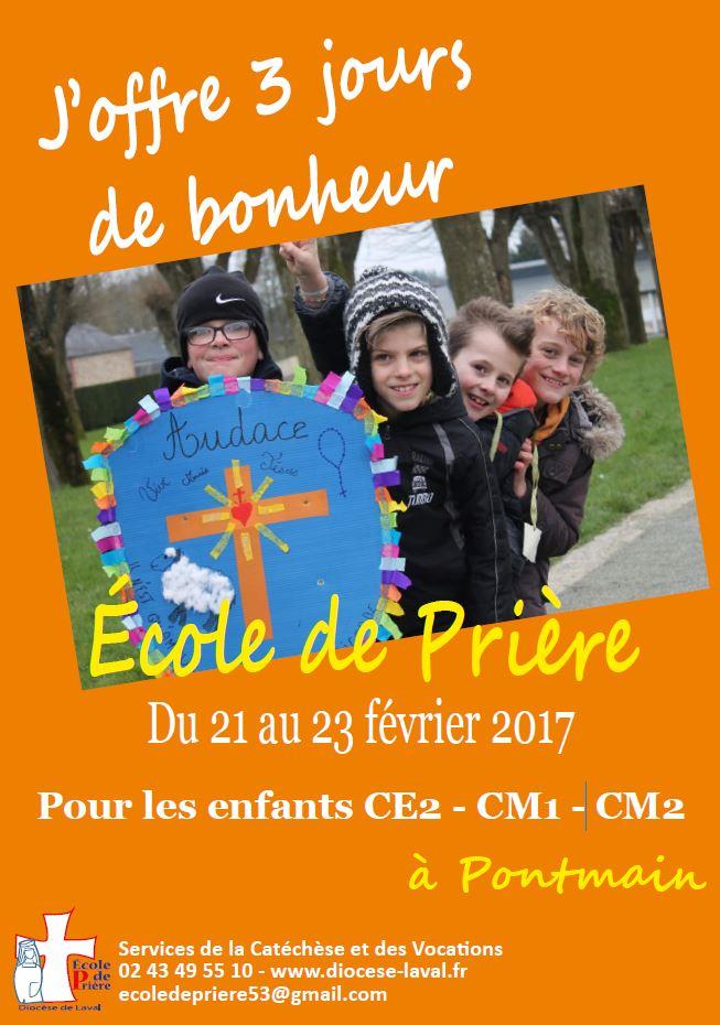 Vacances de février: école de prière pour les enfants à Pontmain