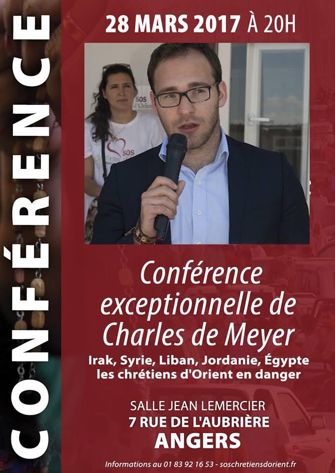 Angers – Conférence de Charles de Meyer
