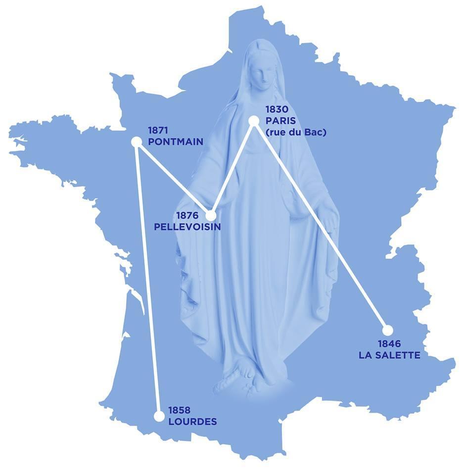 """Le grand """"aime"""" de Marie: un pèlerinage pour demander la conversion de la France"""