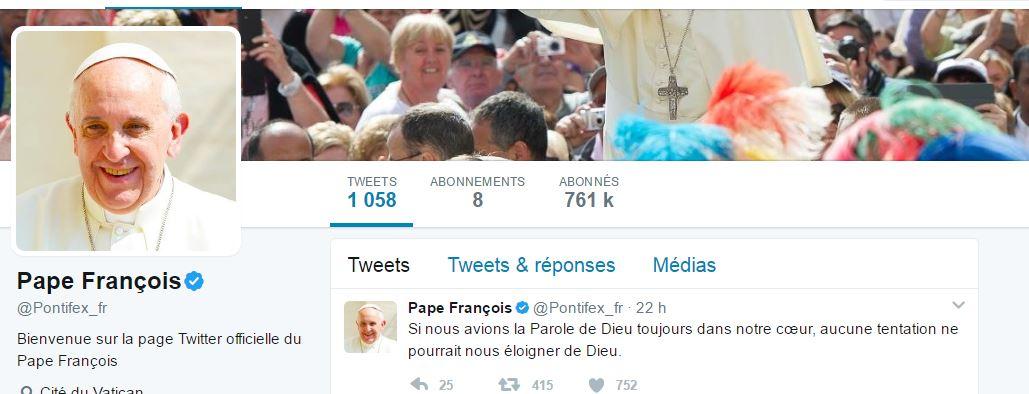 """@Pontifex """"Soyons gardiens et non prédateurs du monde"""""""
