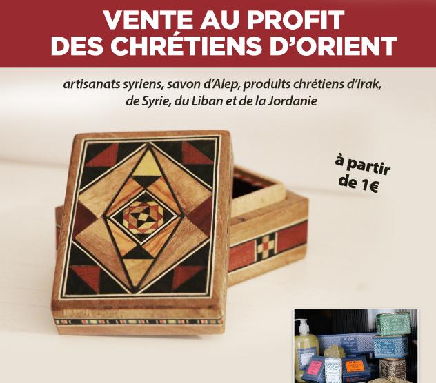 Versailles – Vente d'articles religieux et d'artisanat en partenariat avec SOS Chrétiens d'Orient