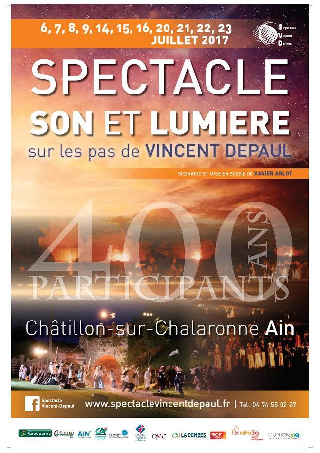 """""""Sur les pas de Vincent de Paul"""": grand son et lumière à Chatillon-sur-Chalaronne"""