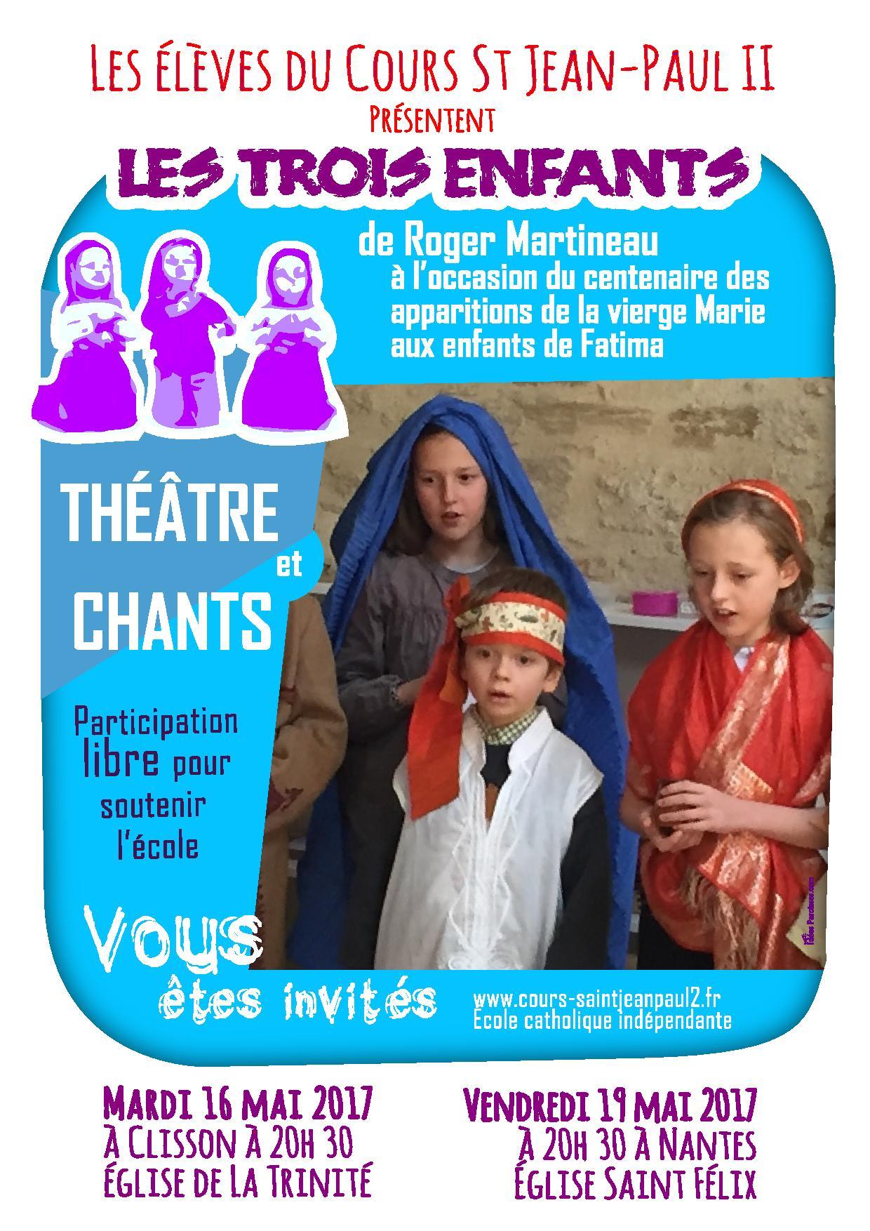 A Nantes, les élèves du cours St Jean-Paul II présentent ...
