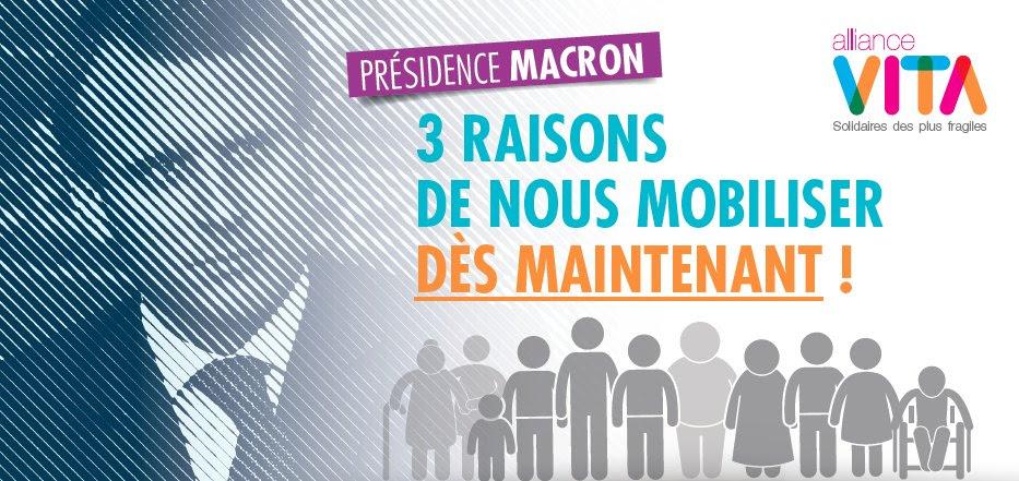 Présidence Macron – Alliance Vita appelle à la vigilance et à rester mobilisés