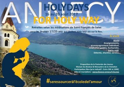 Annecy – Holydays for Holy way: retraite d'enseignements sur les méditations de Saint François de Sales