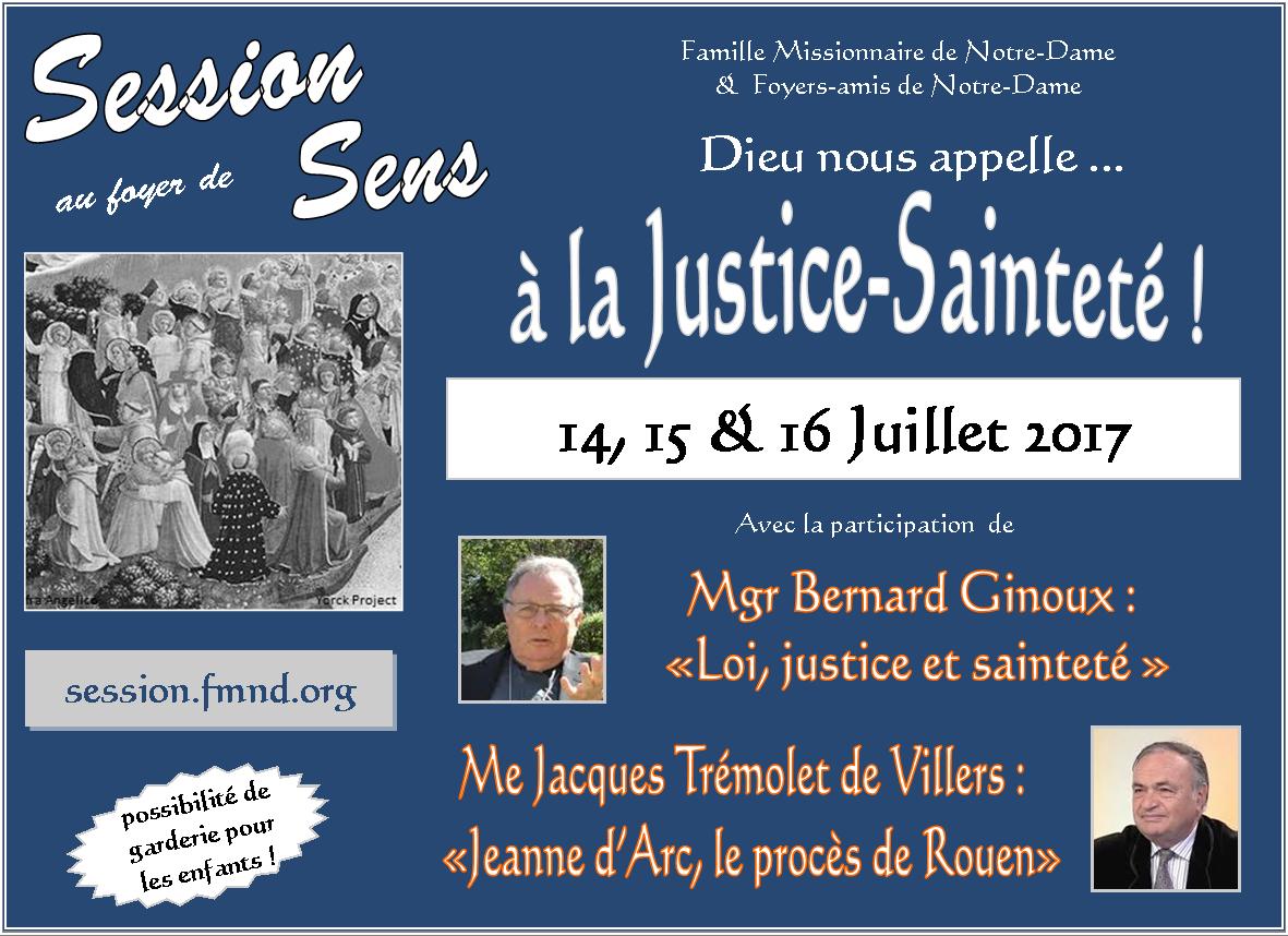 Le père Bernard Domini présente la session sur la Justice et la Sainteté à Sens