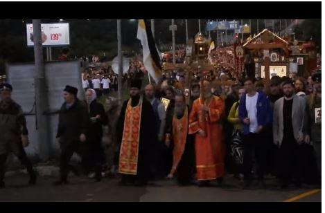 60 000 personnes ont commémoré le martyre du Tsar Nicolas II