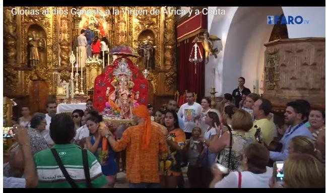 Le Dieu Ganesh reçu en grandes pompes dans la cathédrale de Ceuta