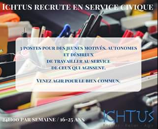 Ichtus recrute en service civique