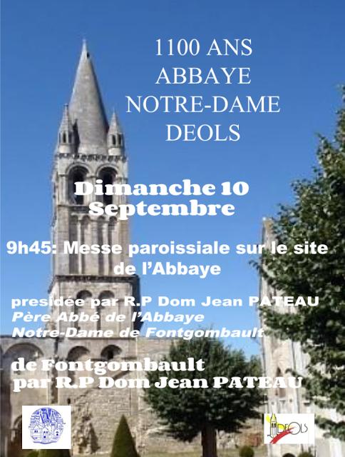 Messe pour les 1100 ans de l'Abbaye Notre-Dame de Déols