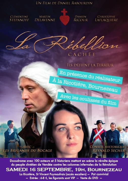 La Rébellion cachée – projection à Bournezeau le 16 septembre