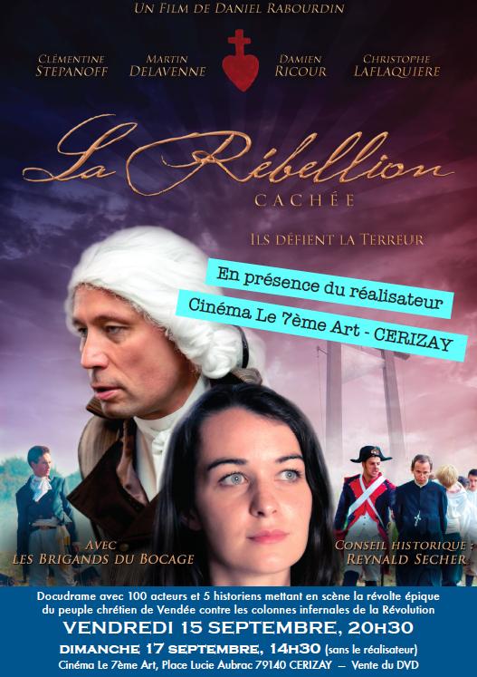 La Rébellion cachée – projection à Cerizay les 15 et 17 septembre