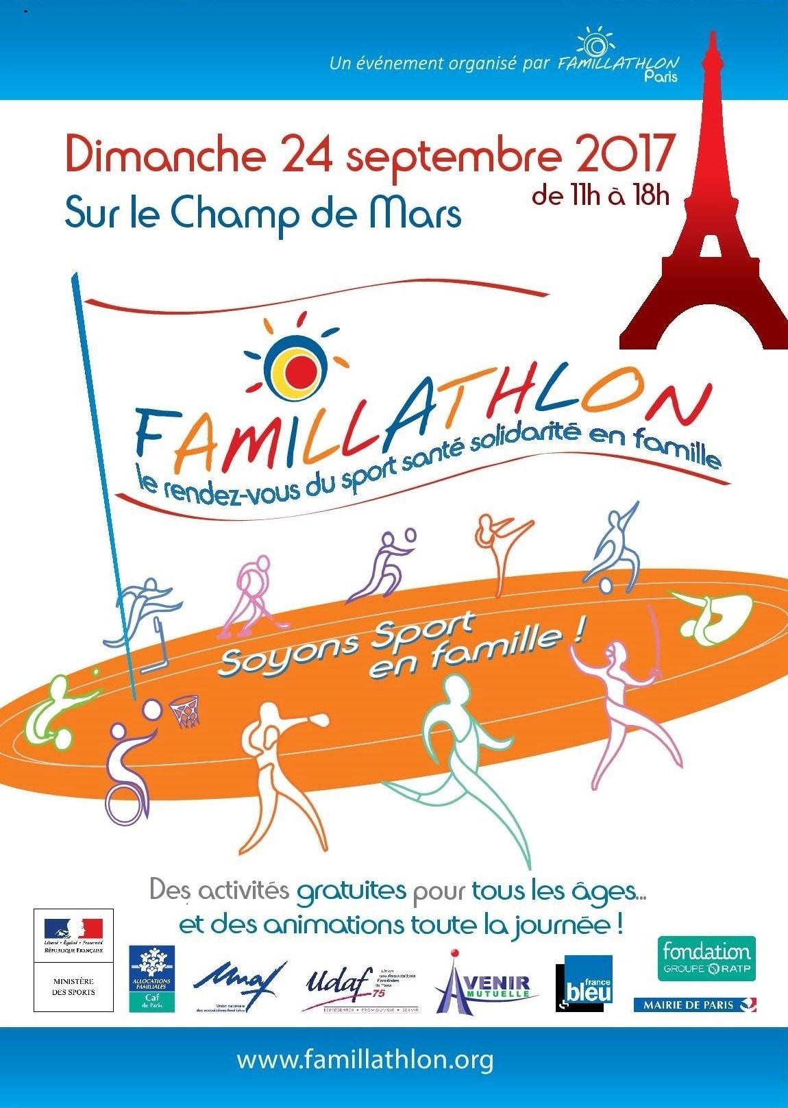 Famillathlon à Paris le 24 septembre – AFC
