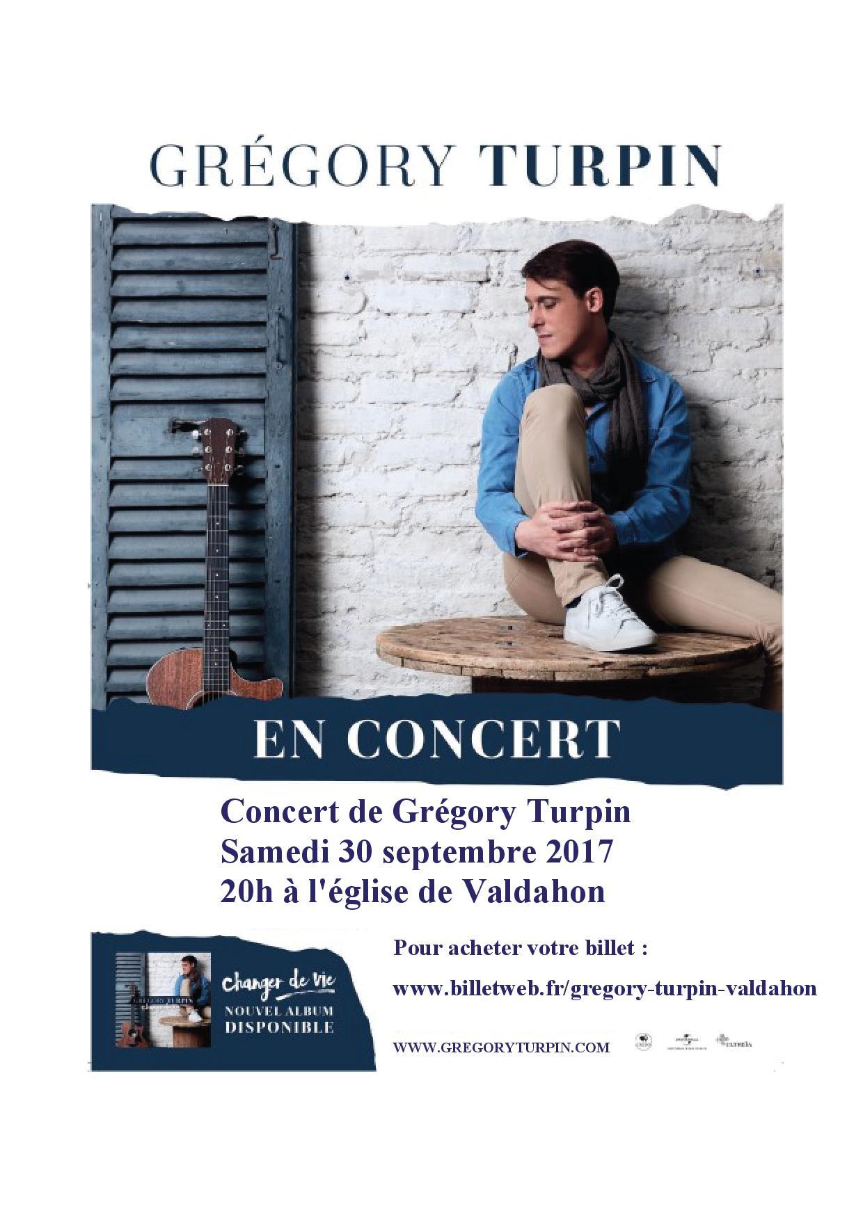 Concert de Grégory Turpin à l'église de Valdahon