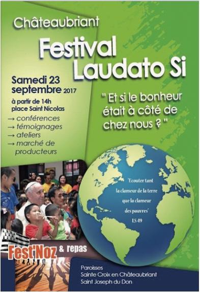 23 septembre 2017: Festival Laudato Si à Châteaubriant