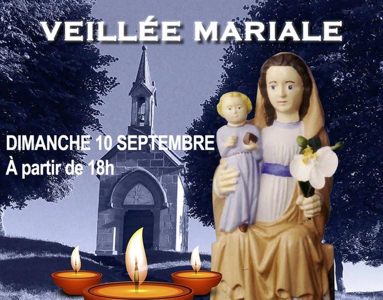 Veillée mariale à Mandeure (diocèse de Belfort-Montbéliard) le dimanche 10 septembre