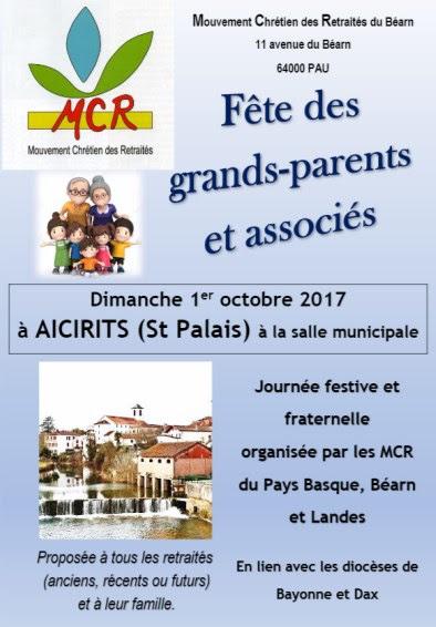 Fête des grands-parents et associés avec le MCR le 1er octobre