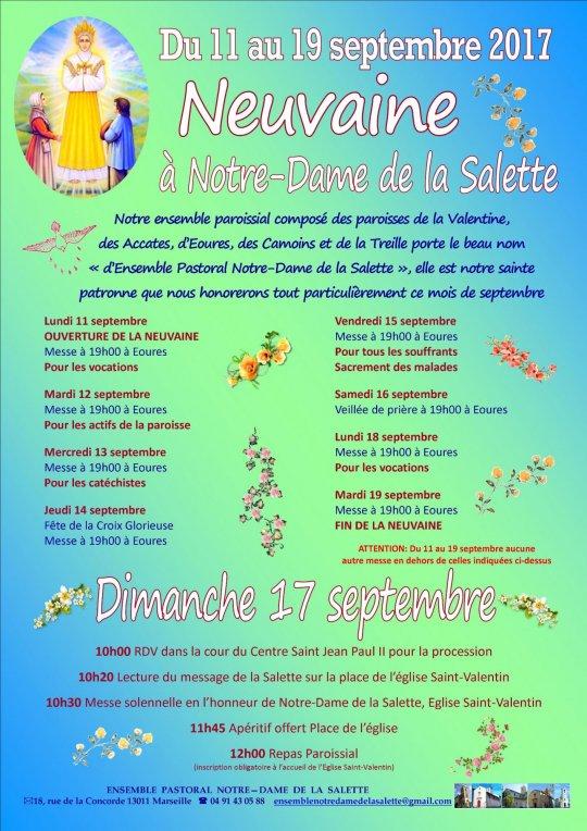Neuvaine à Notre-Dame de la Salette dans le diocèse de Marseille – du 11 au 19 septembre
