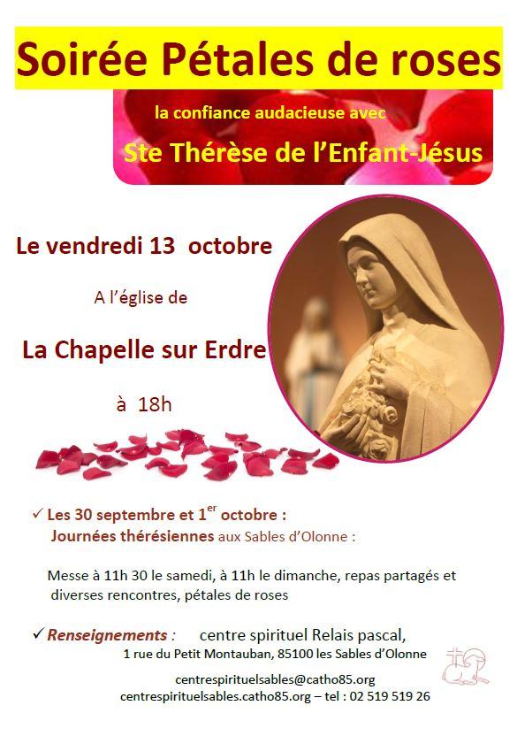 13 octobre 2017: Soirée Pétales de roses à l'église de la Chapelle-sur-Erdre