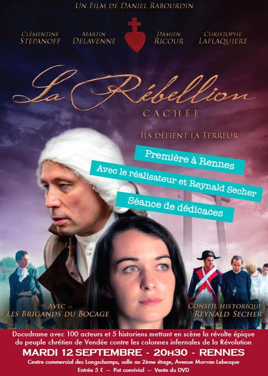 La Rebellion cachée – projection à Rennes le 12 septembre 2017 en présence de Reynald Sécher et du réalisateur
