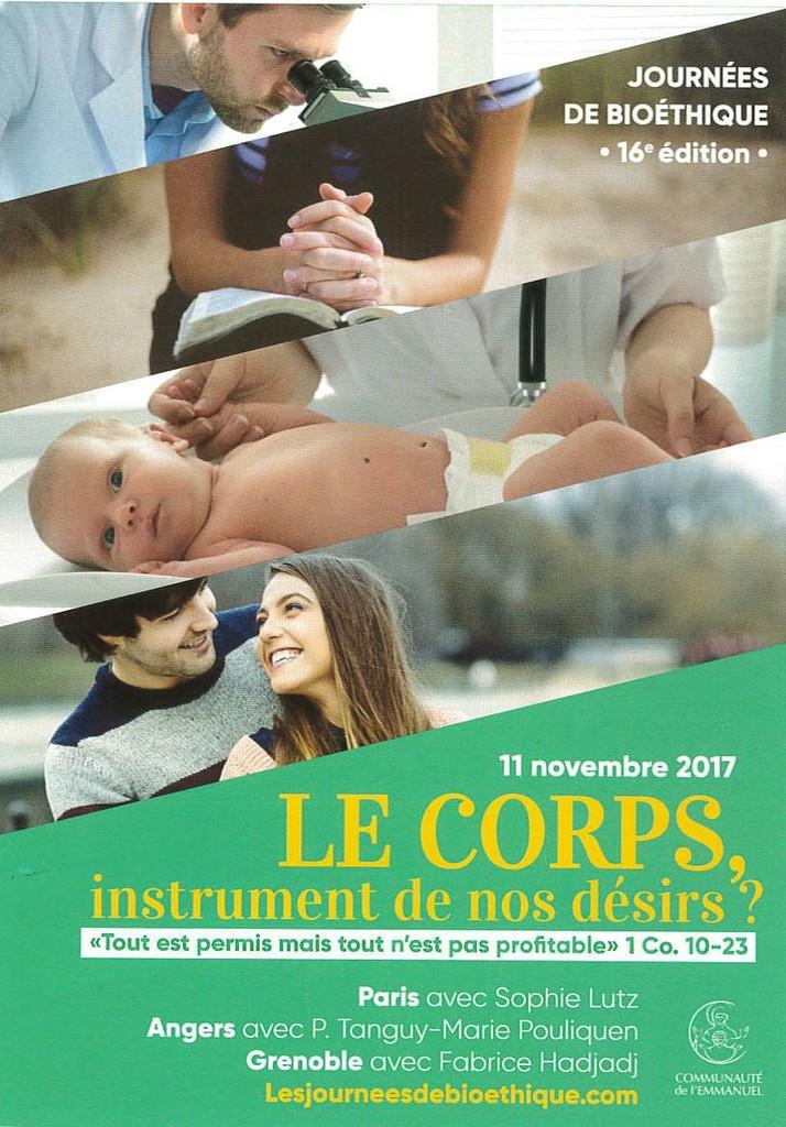 Journée de bioéthique à Grenoble le 11 novembre
