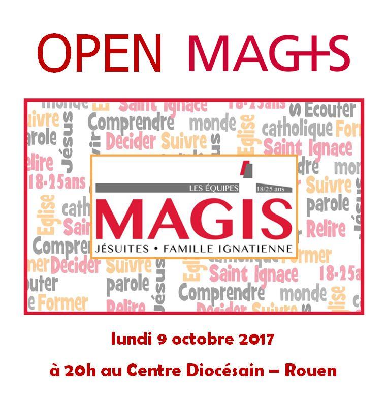 Soirée de lancement Open Magis: Mouvement ignatien pour les jeunes de 18 à 25 ans – Rouen, le 9 octobre