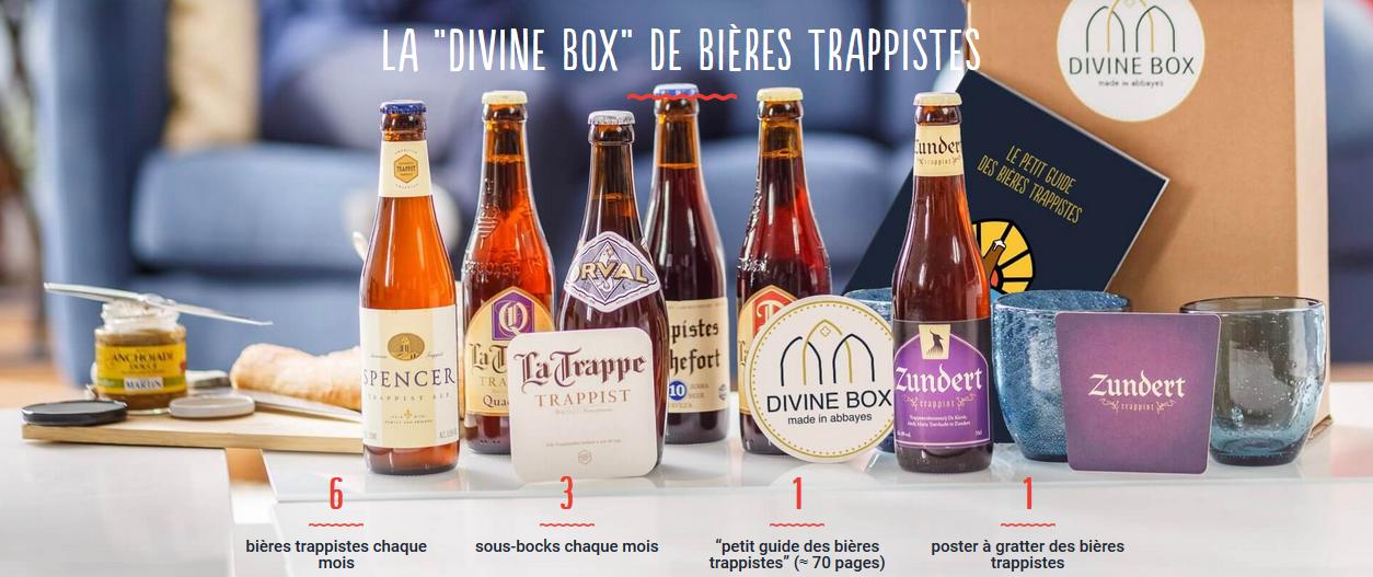 Divine Box lance sa toute nouvelle box spéciale bières trappistes!