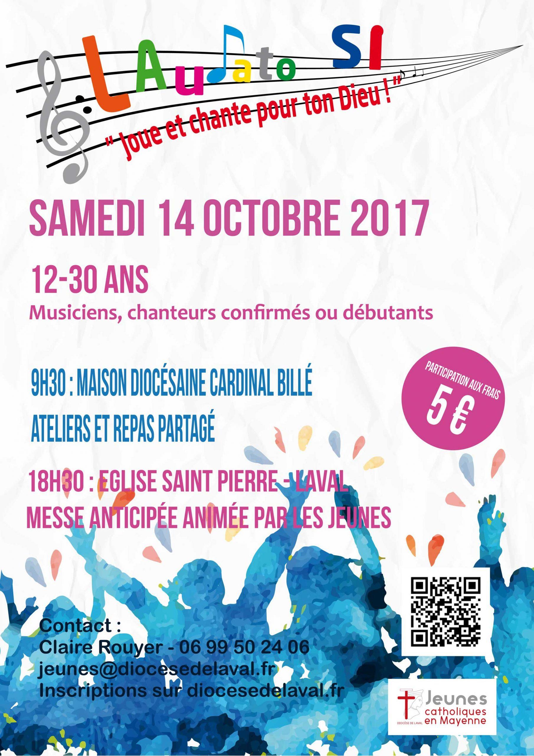 LAudato SI, la journée qui loue et chante Dieu le 14 octobre à Laval