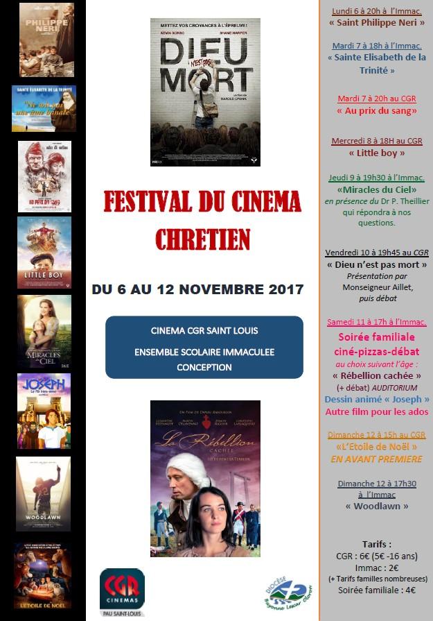 Festival du cinéma chrétien à Pau (64) du 6 au 12 novembre