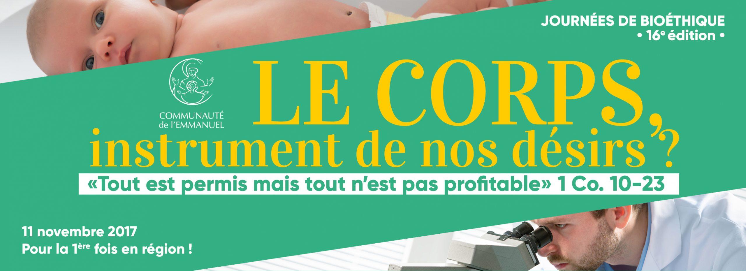 Journées de bioéthique à Angers (49) le 11 novembre