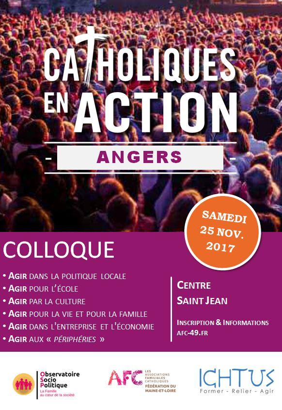 Colloque AFC/Ichtus Catholique en Action à Angers (49) le 25 novembre