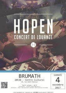 Concert de HOPEN à Brumath (67) le 4 novembre