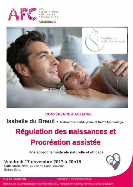 """Conférence """"régulation des naissances et procréation assistée"""" le 17 novembre à Auxerre (89) – AFC"""