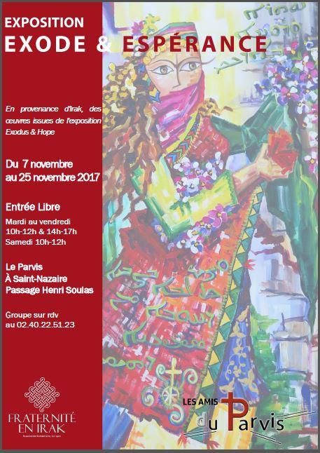 """Saint-Nazaire (44), du 7 au 24 novembre:  expo exceptionnelle """"Exode et espérance"""" avec les oeuvres d'artistes irakiens"""
