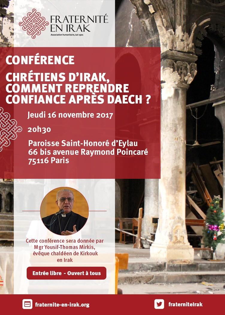 Paris – Conférence de Mgr Mirkis, évêque chaldéen catholique de Kirkouk