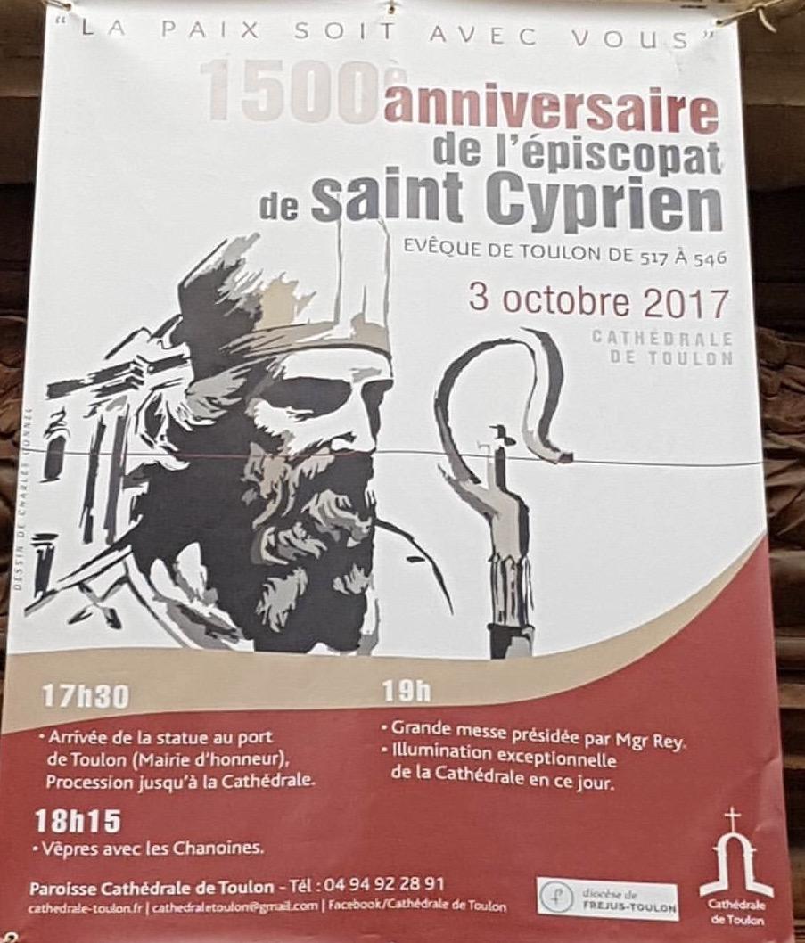 Toulon – Messe pour le 1500ème anniversaire de l'épiscopat de Saint Cyprien,