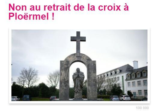 Pétition – Non au retrait de la croix à Ploërmel!