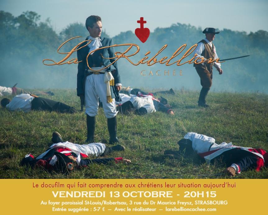Projection du film La Rébellion cachée à Strasbourg le 13 octobre à 20H15